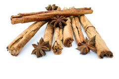 Cinnamon sticks & star anise Stock Photos