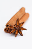 Cinnamon sticks, star anise Royalty Free Stock Images