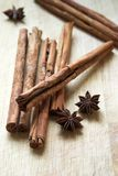 Cinnamon sticks & star anise Stock Image