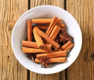 Cinnamon sticks and star anise Stock Image