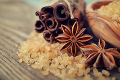 Cinnamon sticks and star anise Royalty Free Stock Image
