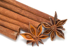 Cinnamon sticks, star anise Stock Image