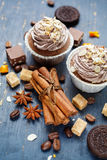 Cinnamon sticks and sweets Royalty Free Stock Photo