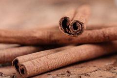 Cinnamon sticks. On the table Stock Image