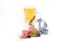 Cinnamon sticks and tea Stock Images