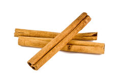 Cinnamon sticks on white Stock Photography