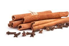 Cinnamon sticks  on white background Stock Images
