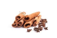 Cinnamon sticks  on white background Stock Image