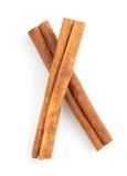Cinnamon sticks on white Royalty Free Stock Photo