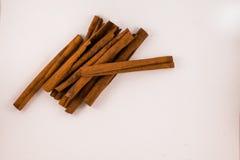 Cinnamon sticks. On white background Royalty Free Stock Photo