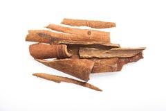 Cinnamon sticks  on white background.  Royalty Free Stock Photography