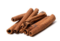 Cinnamon sticks on white background Stock Image