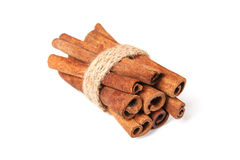 Cinnamon sticks on white. Cinnamon sticks isolated on white Stock Photo