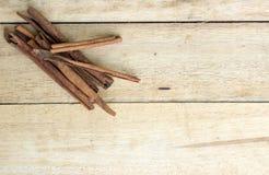 Cinnamon sticks on  wooden Stock Image