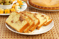 Cinnamon streusel bread Royalty Free Stock Photos