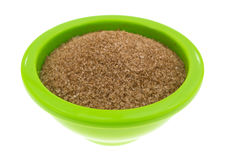 Cinnamon Sugar In Green Bowl Side View Stock Image