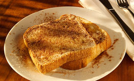 Cinnamon sugar toast in golden light Royalty Free Stock Photos