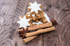 Cinnamon Sweets with christmas decoration Stock Photography