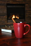 Cinnamon Tea By The Fire Royalty Free Stock Images