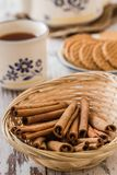 Cinnamon for Tea Time Royalty Free Stock Images