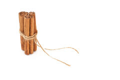 Cinnamon tied with string and isolated Stock Photo
