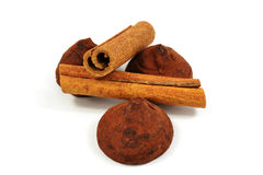 Cinnamon with truffels Stock Photography