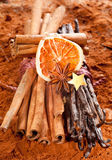 Cinnamon and vanilla Stock Photo