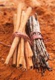 Cinnamon and vanilla Royalty Free Stock Image