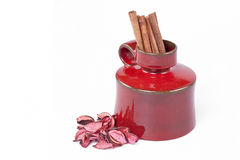 Cinnamon and the vase Royalty Free Stock Photos