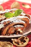 Cinnamon-walnut roll Stock Photography