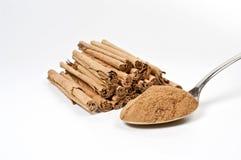 Cinnamon on white Royalty Free Stock Photo