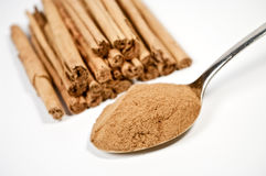 Cinnamon on white Stock Photography