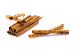 Cinnamon. On the white background Royalty Free Stock Image