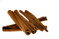 Cinnamon on White Royalty Free Stock Image