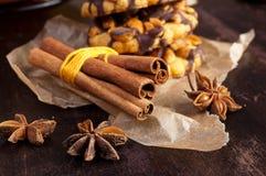 Cinnamone i ciastko Zdjęcie Royalty Free