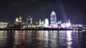 Cinncinnati, Ohio-Flussufer nachts! Stockfotos