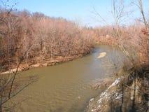 Cinnoberfärgflodlandskap Illinois Royaltyfria Bilder