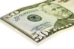 Cinqüênta dólares Bill Imagens de Stock Royalty Free