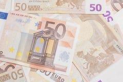 Cinqüênta euro Fotografia de Stock Royalty Free