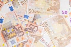 Cinqüênta euro Fotografia de Stock