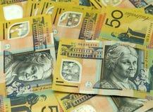 Cinqüênta notas do dólar Foto de Stock Royalty Free