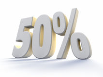 Cinqüênta por cento Foto de Stock Royalty Free