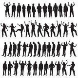 Cinqüênta povos diferentes imagem de stock