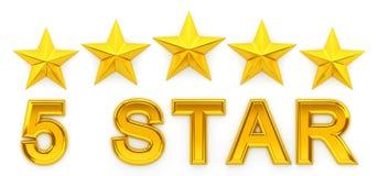 Cinq étoiles - rendu 3d Image libre de droits