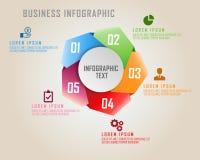 Cinq acculés avec l'infographics d'affaires de cinq couleurs sur le style de pentagone Photo libre de droits