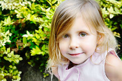 Cinq années de fille Photographie stock