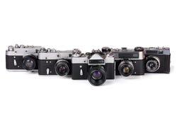 Cinq appareils-photo photo stock
