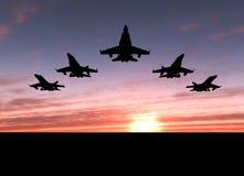 Cinq avions à réaction Photo libre de droits