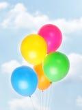 Cinq baloons colorés Image libre de droits
