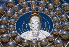 Cinq blanc Bouddha Photo stock
